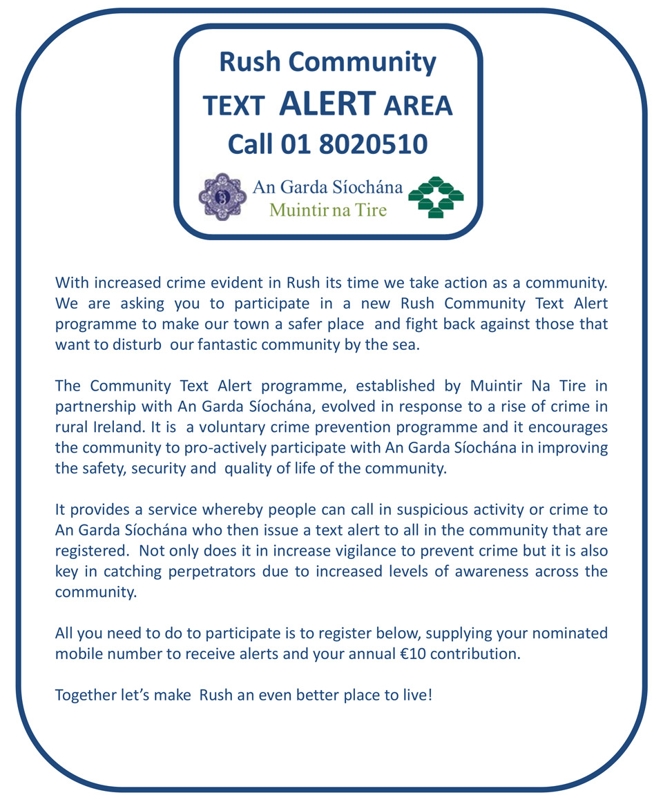 Rush Community Text Alert
