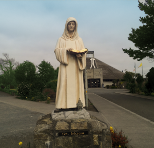 St Maur at Front of Church