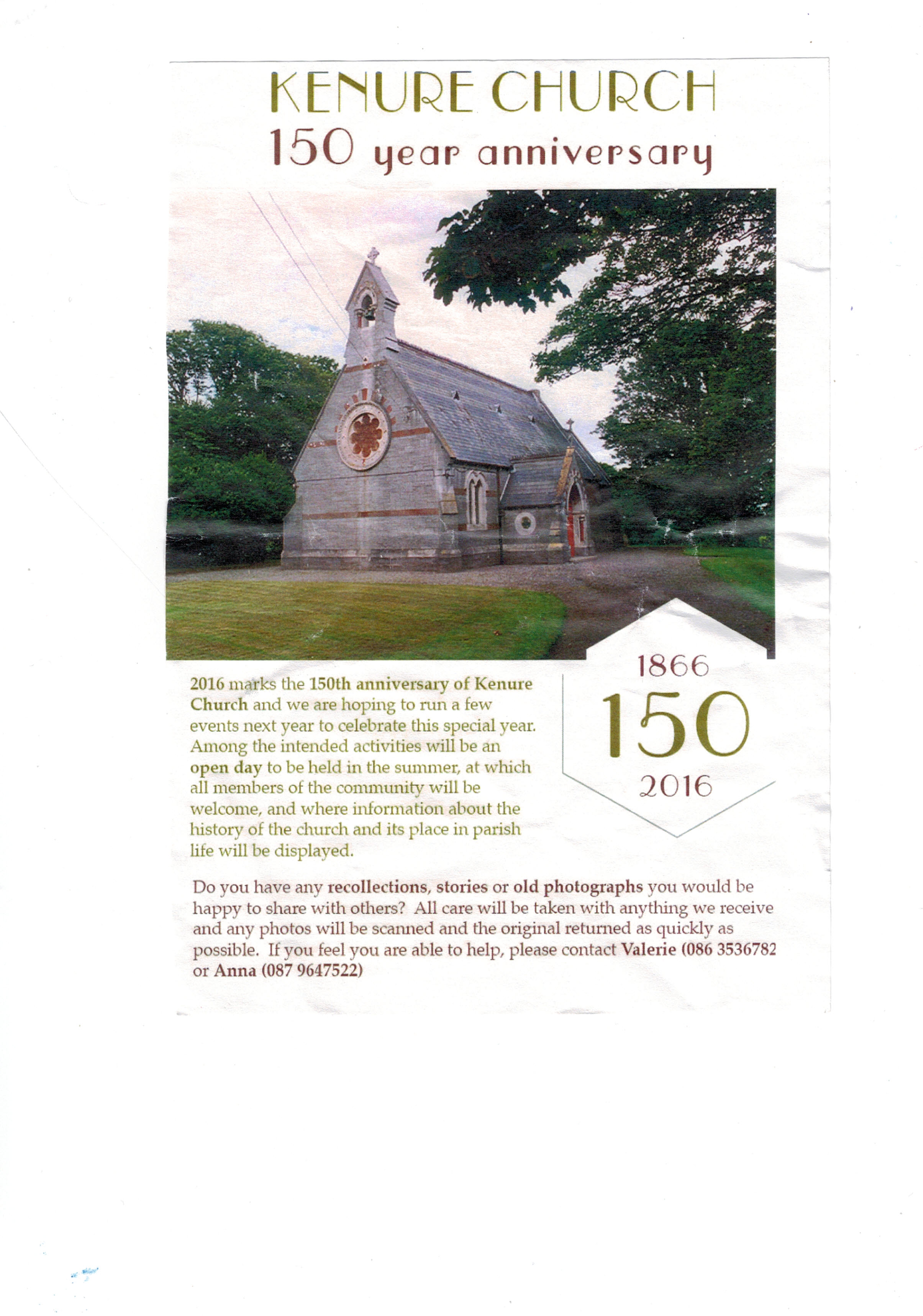 Kenure Church 150 year Anniversary