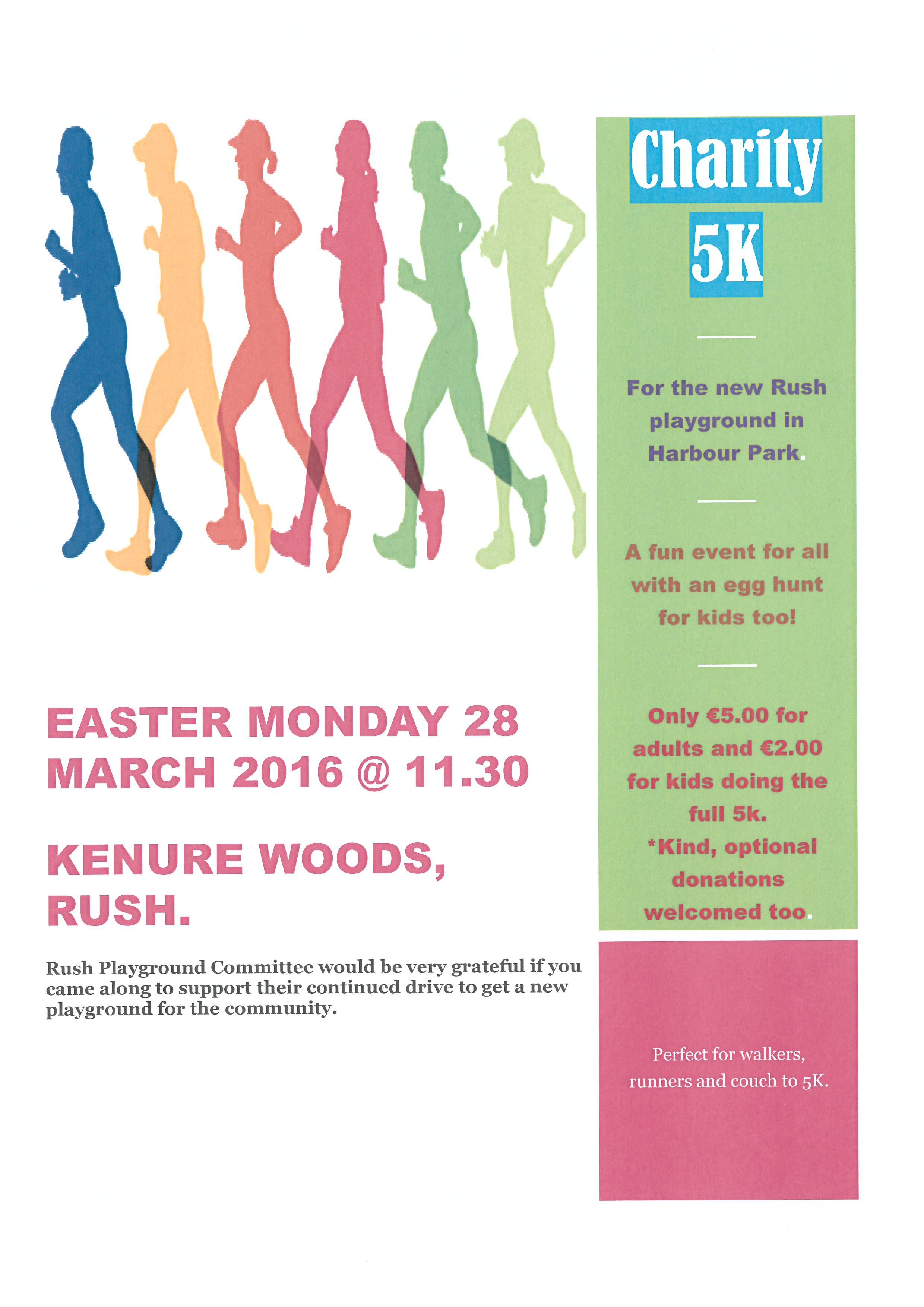 Charity 5K Run in Rush