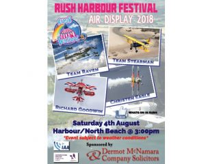 Rush Harbour Festival 2018 - August Bank Holiday Weekend.