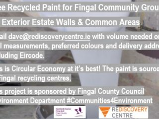 Free recycled paint for Fingal community groups